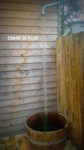 Chaîne de pluie sur abri de jardin - Bruz