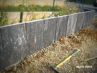 Muret de soutènement en schiste - Guichen