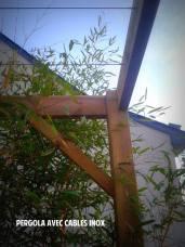 Pergola de jardin en bois - Saint Grégoire