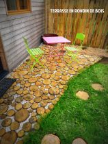 Terrasse en rondin de bois - Bruz