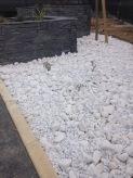 Galets décoratifs blanc pur