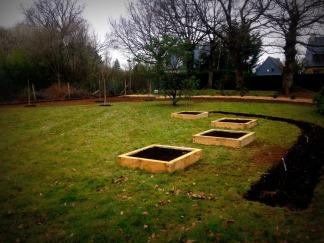 Création jardin potager fruitier Thorigné Fouillard