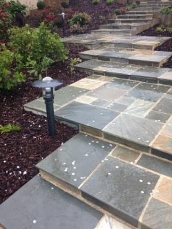 Escalier maçonnerie Chasné Sur illet